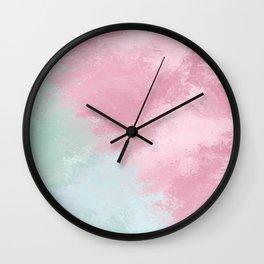 Fade Mint/Pink Wall Clock