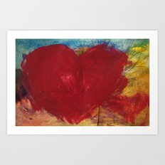 Blood Red Love Art Print