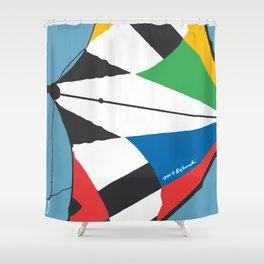 Kite—Sky Blue Shower Curtain
