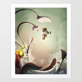 Ratchet and Clank X Spaceman Spiff Art Print