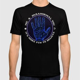 Me & Paranormal You - James Roper Design - Palmistry (white lettering) T-shirt