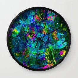 Colorful Dragonflies ZZ R Wall Clock