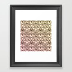 Rainbow Eyes Pink and Yellow Framed Art Print