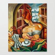 Cuban Coffee at the balcony Canvas Print