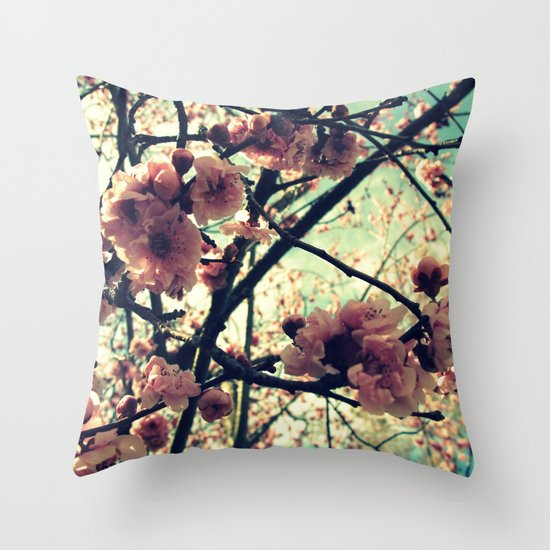 Vintage Blooms Throw Pillow