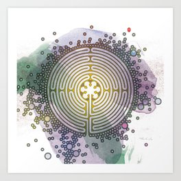 Meditative Labyrinth Art Print