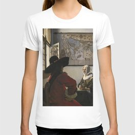 """Johannes Vermeer """"Soldier and a Laughing Girl"""" T-shirt"""
