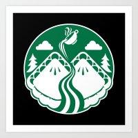 Twin Pies Coffee Art Print