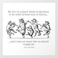 Island of Ignorance Art Print