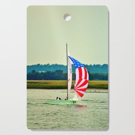 US Flag Sailboat Cutting Board