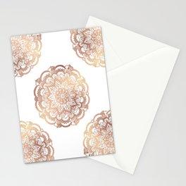 Mandala Rose-Gold Shine Stationery Cards