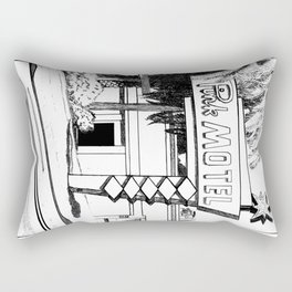 Pink Motel Rectangular Pillow