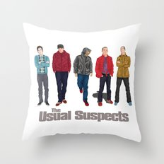 The Usual Suspect casual fashion style Throw Pillow