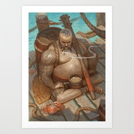 Defender of the rum Art Print