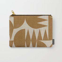 Woodblock Pattern Carry-All Pouch