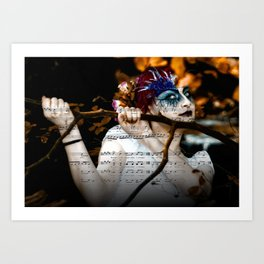 The Muse in The Woods Art Print