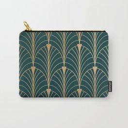 Hidden Sapphire Gold Pattern Carry-All Pouch