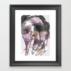 Cigarettes and a chance of rain Framed Art Print