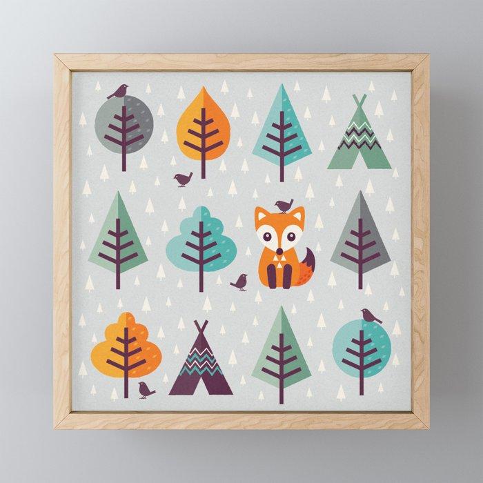 FOX IN THE FOREST Framed Mini Art Print