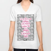 cities V-neck T-shirts featuring Cities by Raphaella Martelino