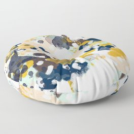 Sloane - abstract painting gender neutral baby nursery dorm college decor Floor Pillow
