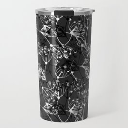 Summer grass , gray ,  black , white 2 Travel Mug