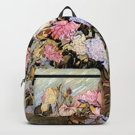 Vincent Van Gogh Vase With Roses Backpack