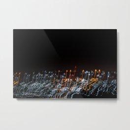 Kigali Night Lights Metal Print