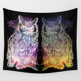 Cosmic Owl Wall Tapestry