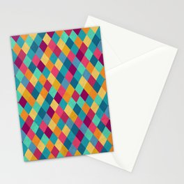 Colored Diamonds Stationery Cards