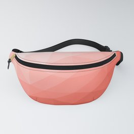 Living coral geometric mesh ombre Fanny Pack