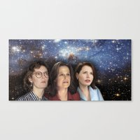 yankees Canvas Prints featuring THE THREE GREAT LADIES by Kaitlin Smith