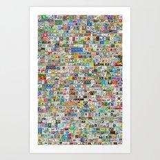 Soccer Stamps Art Print