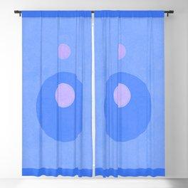 Blue Circle Loop Hole Minimal Blackout Curtain