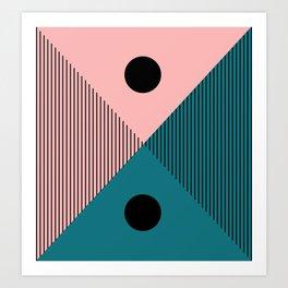 Abstraction_SUN_MOON_DAY_NIGHT_POP_ART_Minimalism_004T Art Print