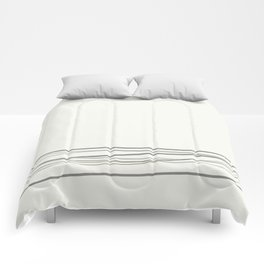 Metropolitan Light Gray, Cinder Dark Gray, Mustang Brown 2111-30 Scribble Lines Snowfall White Comforters