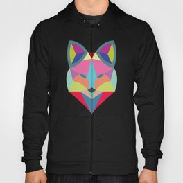 Colourful Geometric Fox Hoody