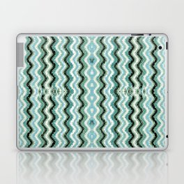 Abstract Lines and Weave - Blue Gray Laptop & iPad Skin