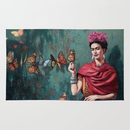 Frida Kahlo Butterfly Rug