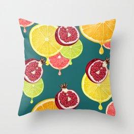 tropic fruit Throw Pillow