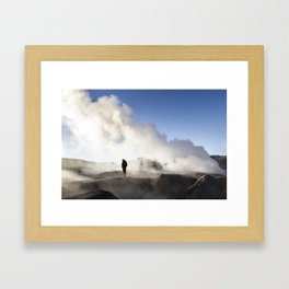The top of the Volcano, Bolivia Framed Art Print