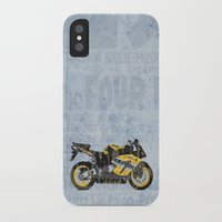 honda iPhone & iPod Cases featuring Honda CBR1000 & Old Newspapers by Larsson Stevensem