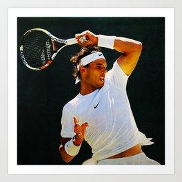 Nadal Tennis Over the Head Forehand Art Print