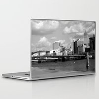 pittsburgh Laptop & iPad Skins featuring Pittsburgh Skyline by Layne Andrews