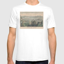 Vintage Pictorial Map of Dublin Bay Ireland (1907) T-shirt