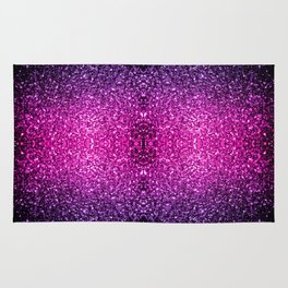 Purple Pink Ombre glitter sparkles Rug