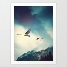 Winter Flight Art Print