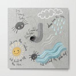 Incy Wincy spider Metal Print