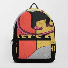 Opossum Let's Eat Trash Retro Backpack