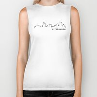 pittsburgh Biker Tanks featuring Pittsburgh by Fabian Bross